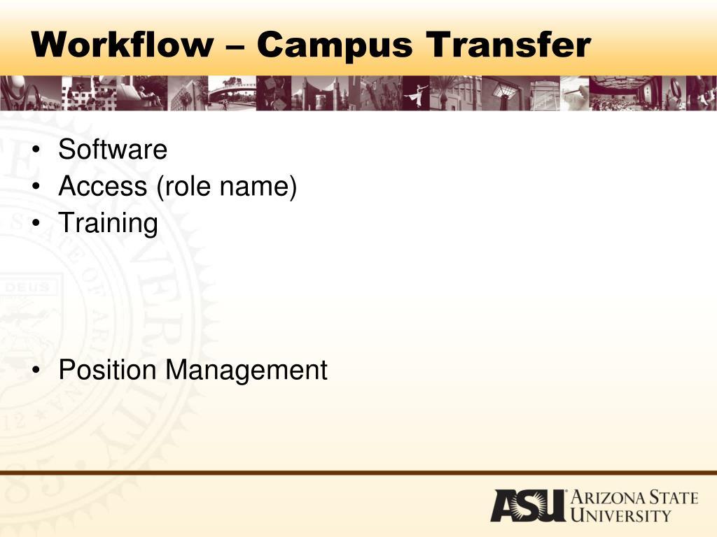 Workflow – Campus Transfer
