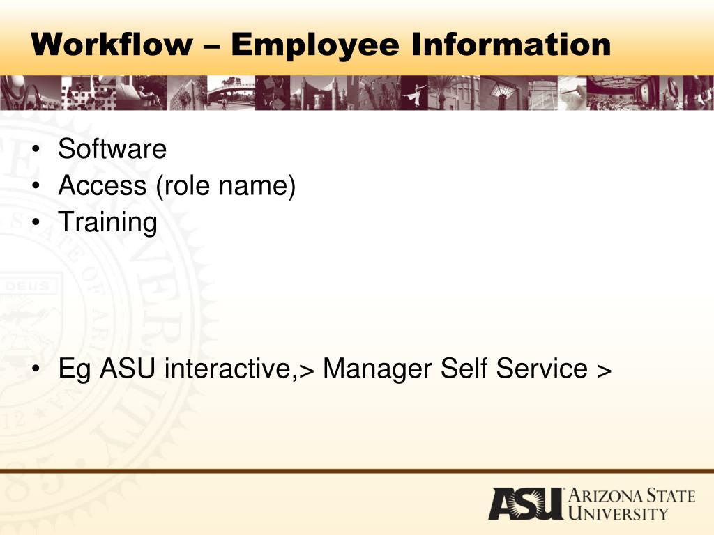 Workflow – Employee Information