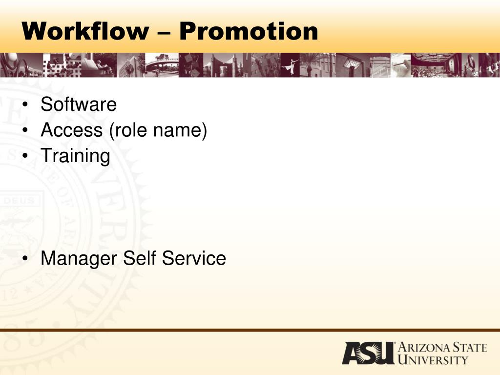 Workflow – Promotion