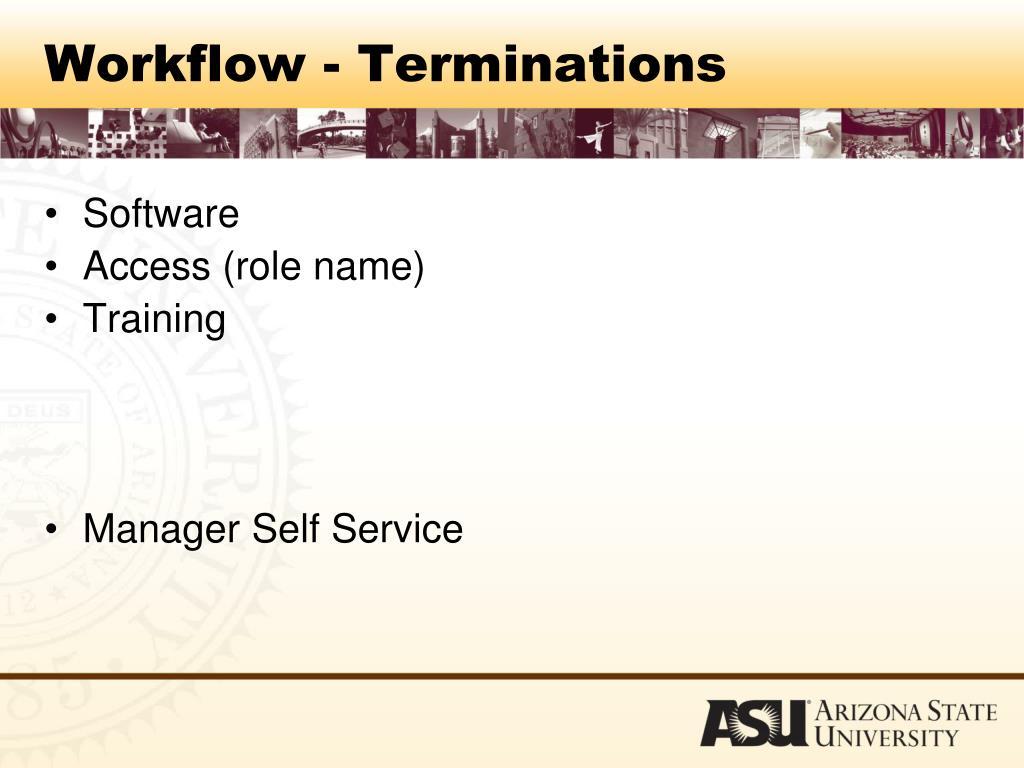 Workflow - Terminations