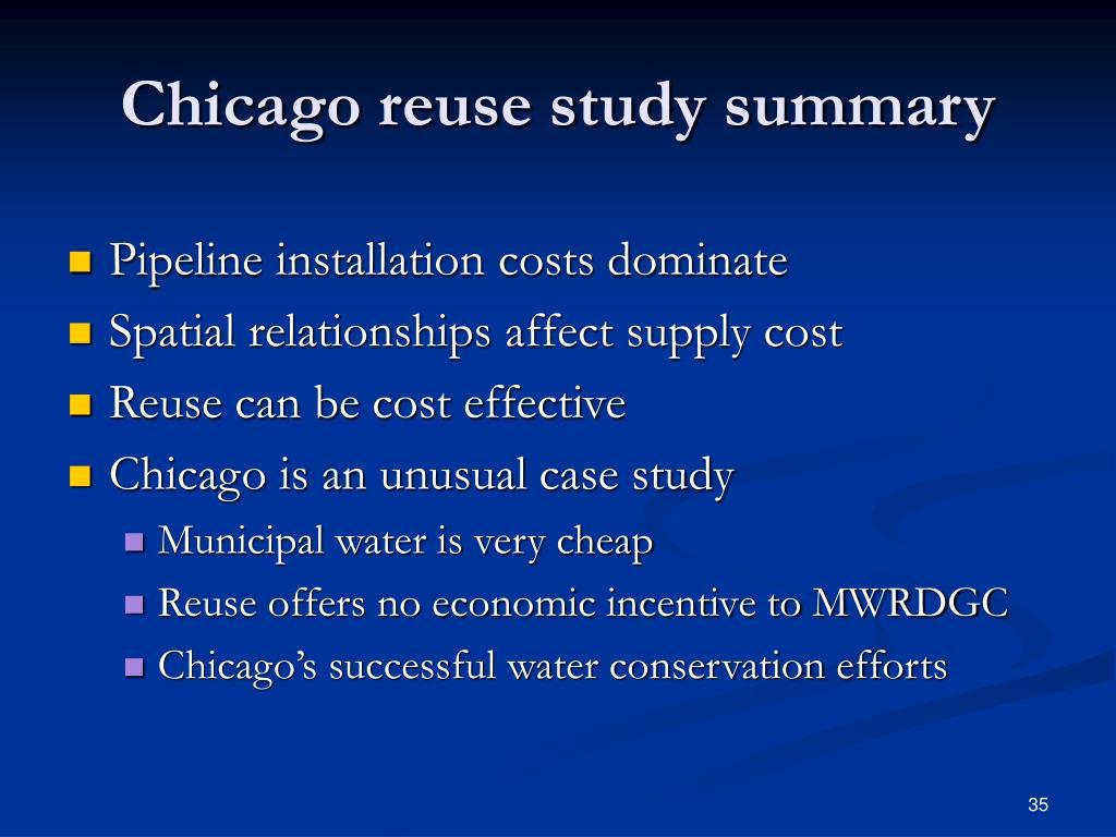 Chicago reuse study summary