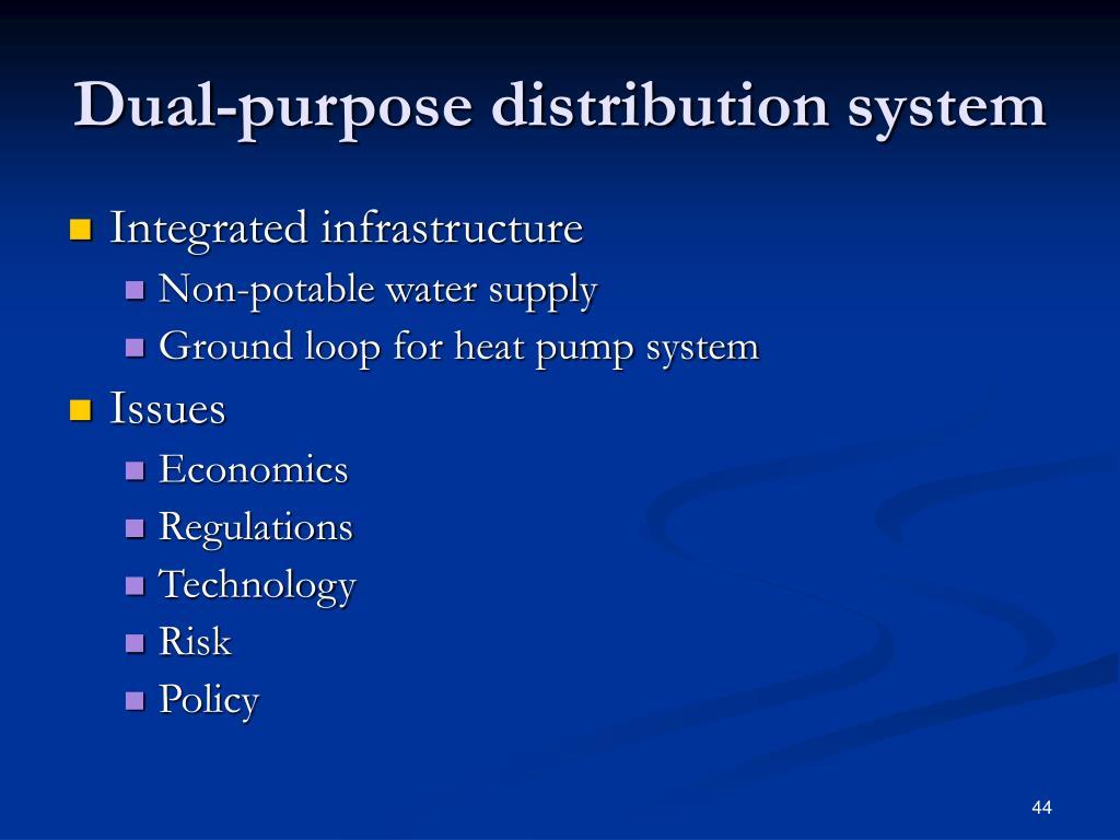 Dual-purpose distribution system