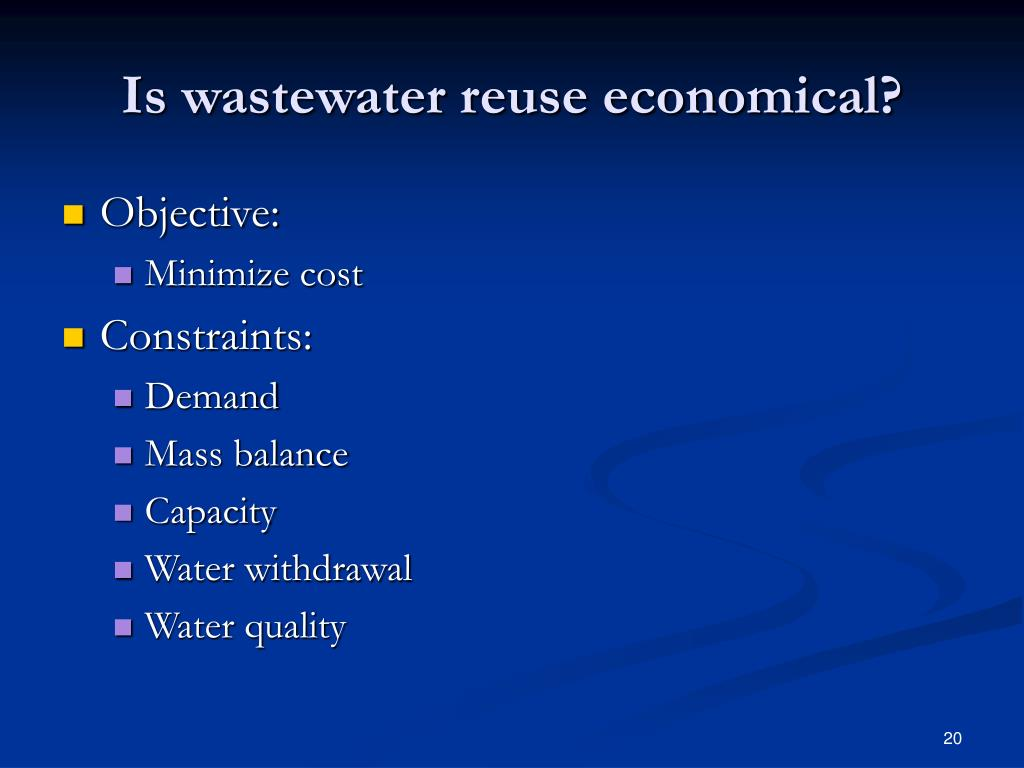 Is wastewater reuse economical?