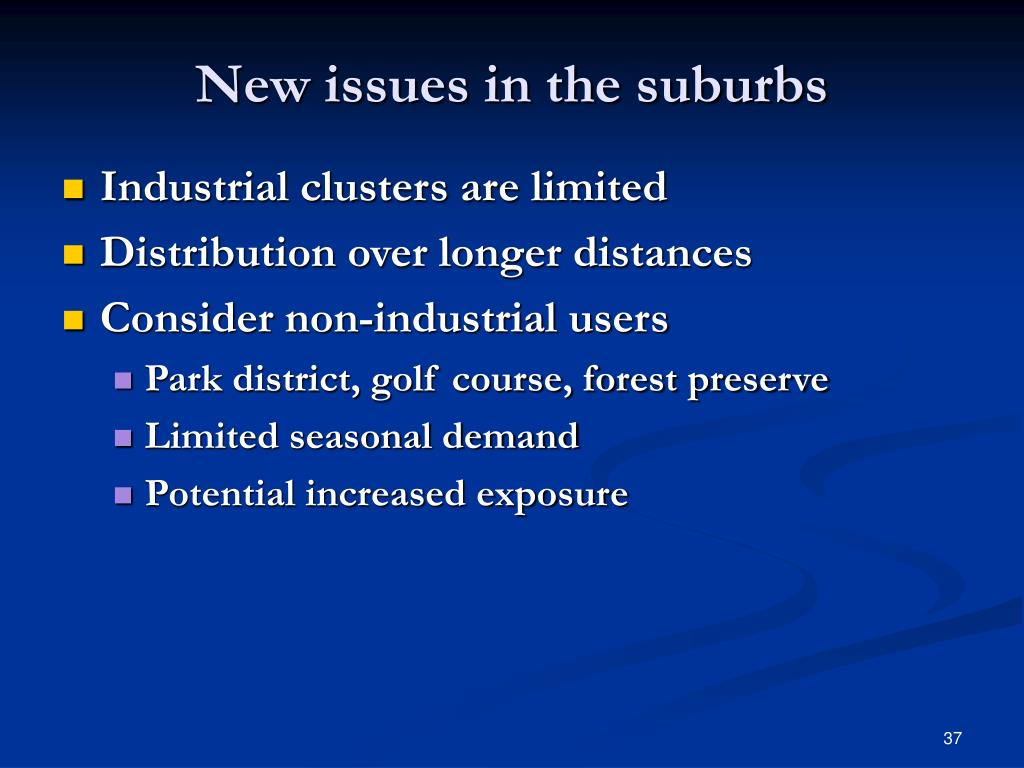 New issues in the suburbs