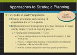 approaches to strategic planning7