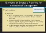 elements of strategic planning for international management21
