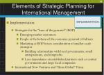 elements of strategic planning for international management23