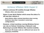 achieve vmotion with hyper v