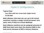 hyper v configurations