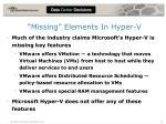 missing elements in hyper v