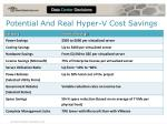 potential and real hyper v cost savings
