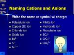naming cations and anions13