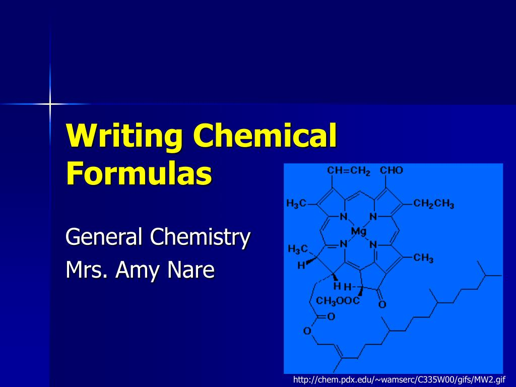 writing chemical formulas l.