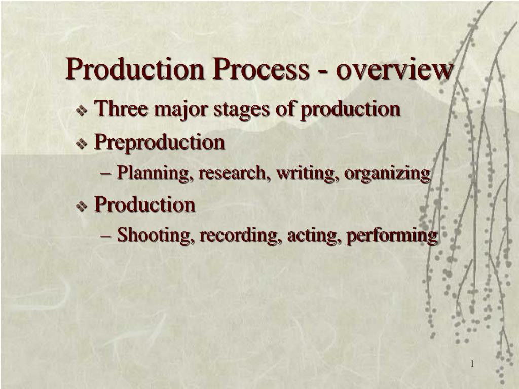 production process overview l.