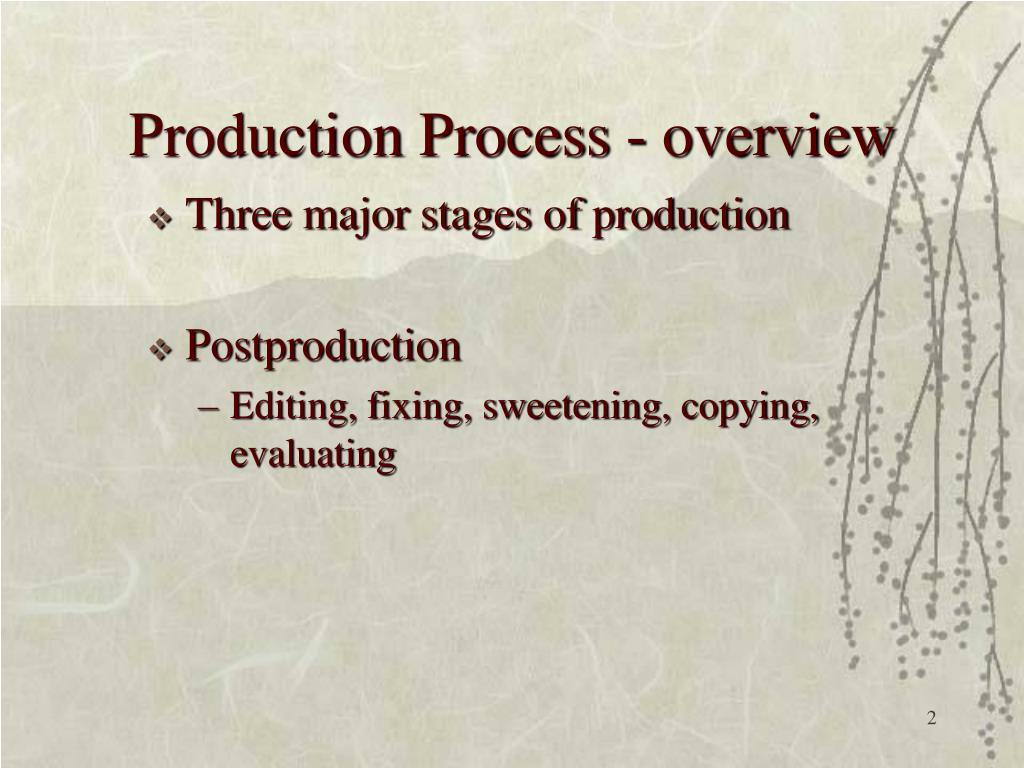Production Process - overview