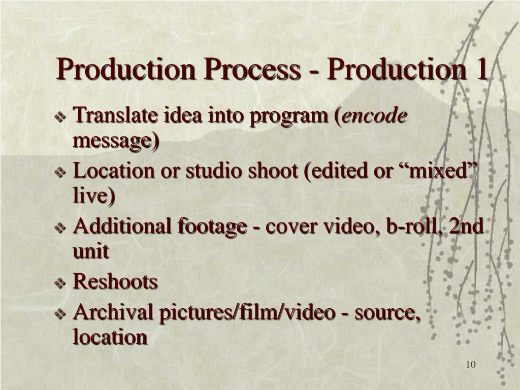 Production Process - Production 1