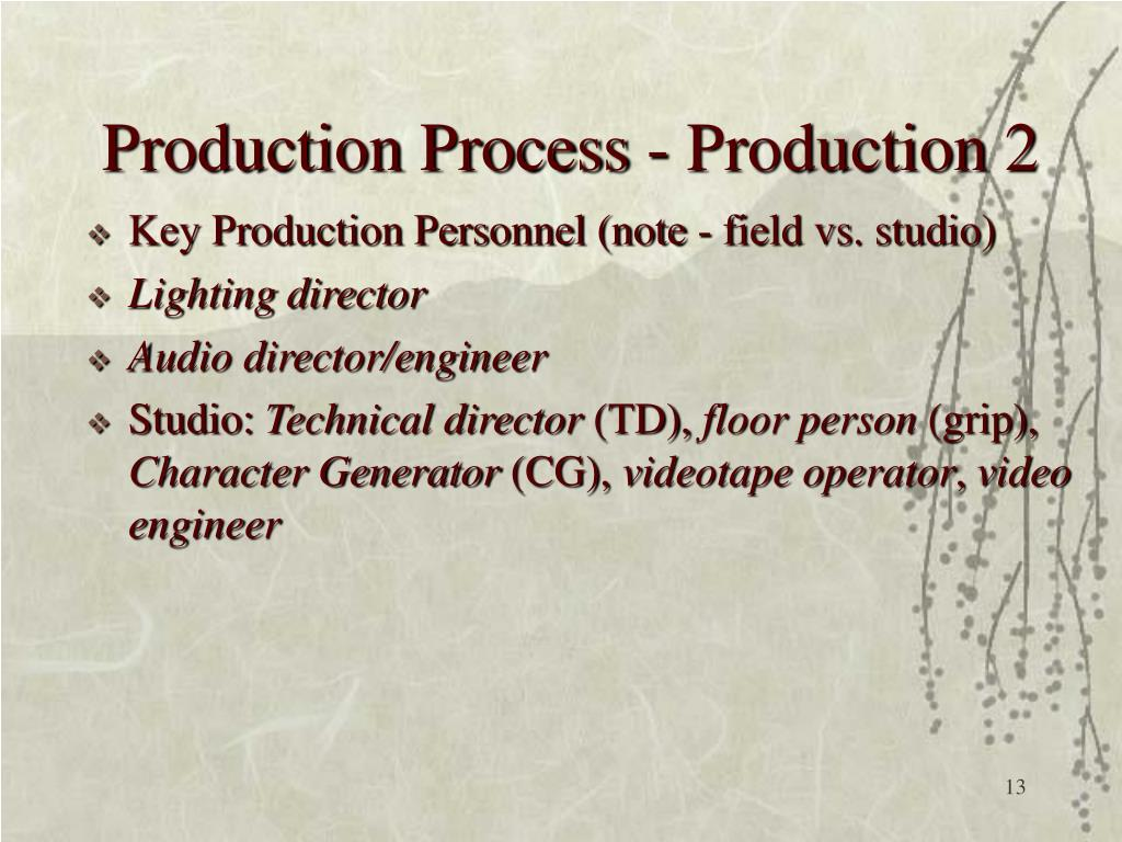 Production Process - Production 2