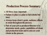 production process summary