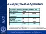 2 employment in agriculture