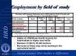 employment by field of study