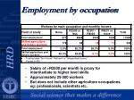 employment by occupation7