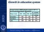 growth in education system