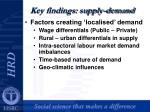 key findings supply demand