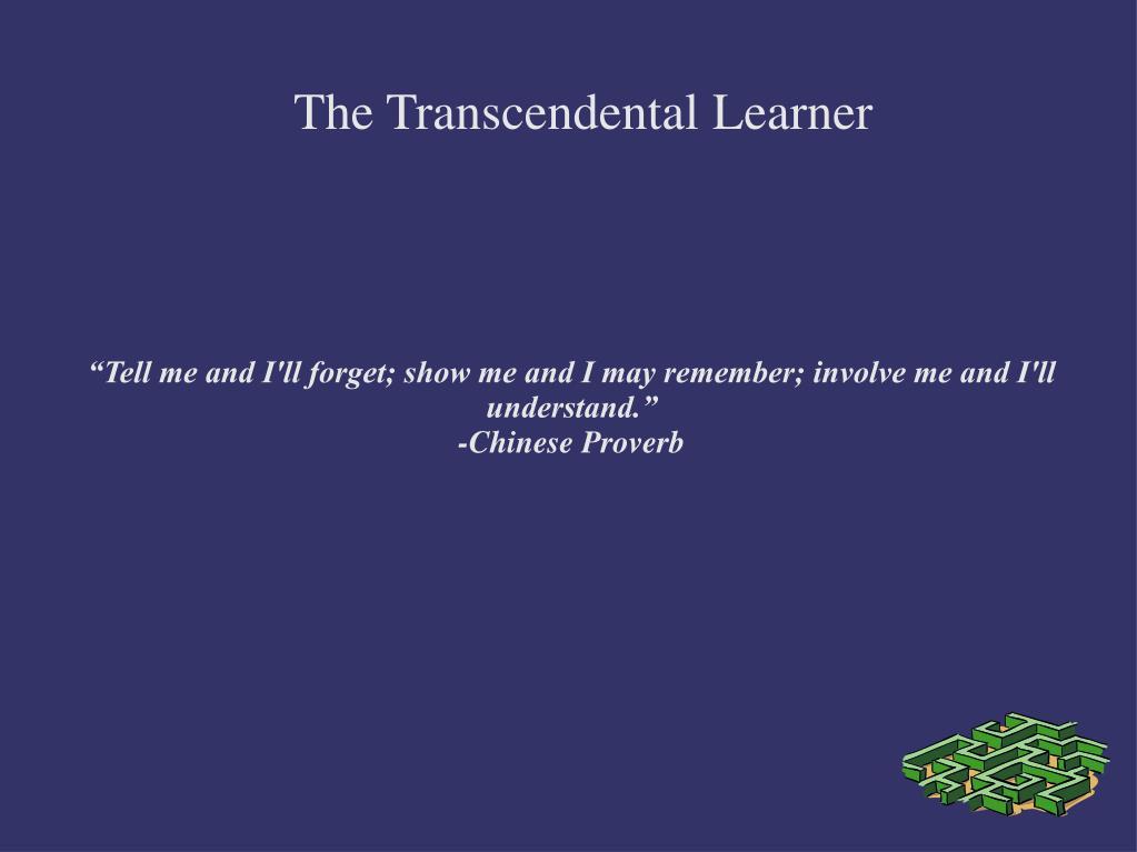 the transcendental learner l.