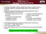 riwg task 1 4 standard evaluation criteria