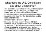 what does the u s constitution say about citizenship