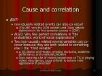 cause and correlation11