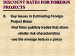 discount rates for foreign projects17