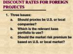 discount rates for foreign projects18
