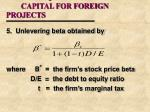 the all equity cost of capital for foreign projects14