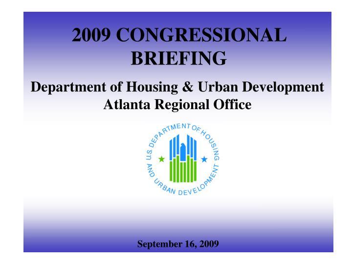 2009 congressional briefing n.