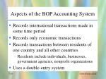 aspects of the bop accounting system