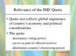 relevance of the imf quota