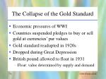 the collapse of the gold standard