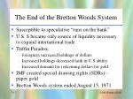 the end of the bretton woods system