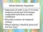infant industry argument