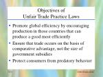 objectives of unfair trade practice laws