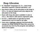 heap allocation