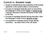 lexical vs dynamic scope