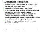 symbol table construction