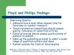 floyd and phillips findings31