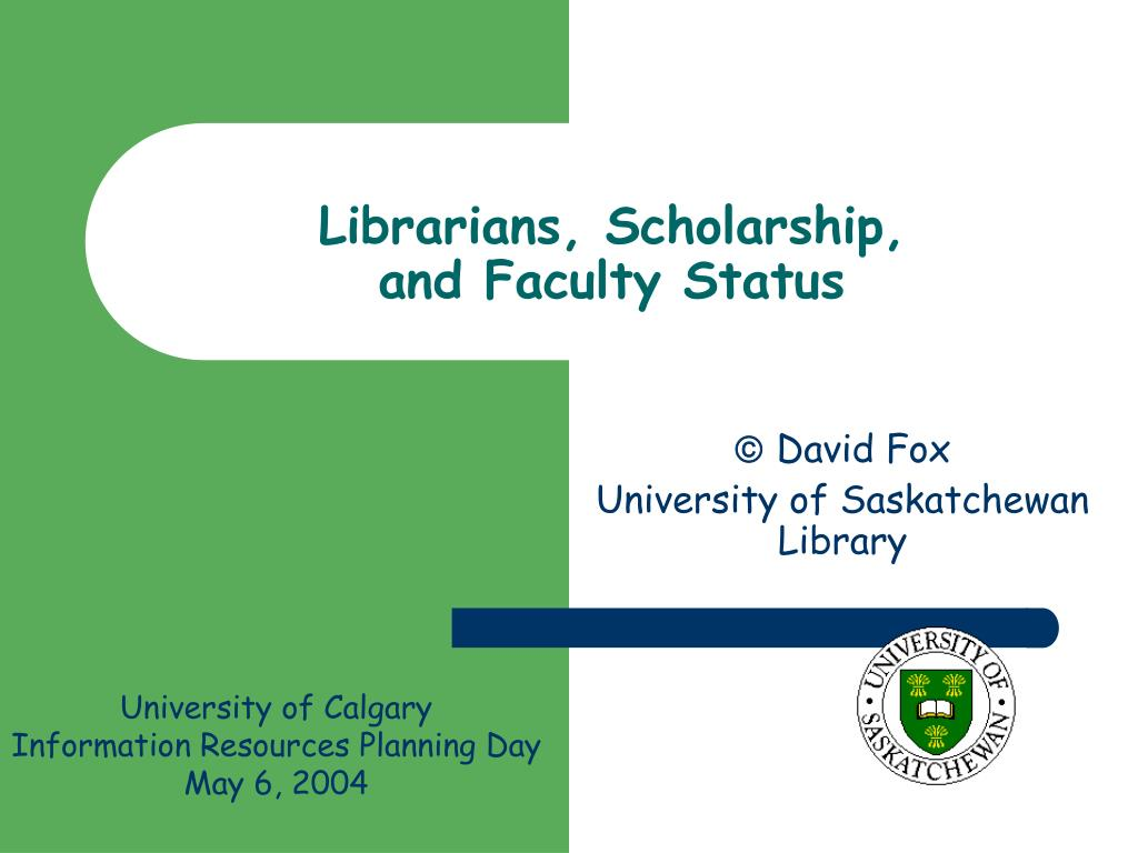 librarians scholarship and faculty status l.