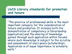uofs library standards for promotion and tenure42