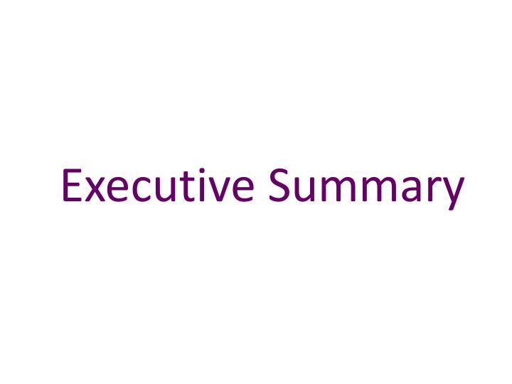 executive summary n.