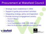 procurement at wakefield council