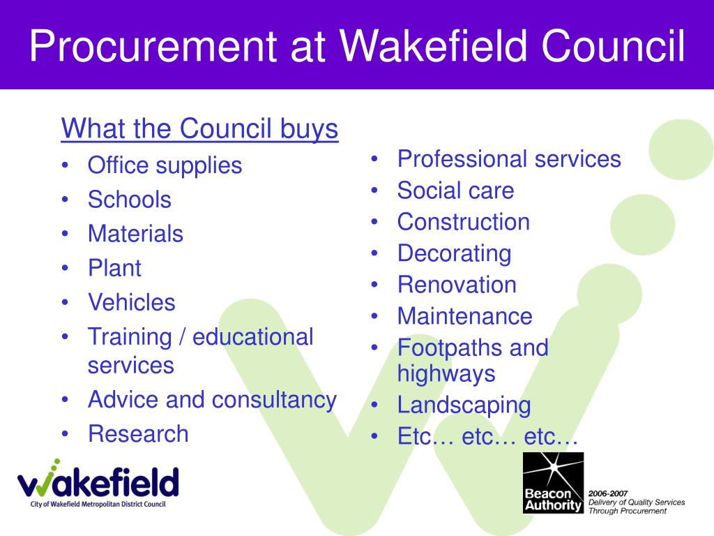 Procurement at Wakefield Council